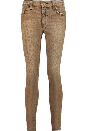 CURRENT/ELLIOTT The Highwaist Stiletto high-rise leopard-print skinny jeans