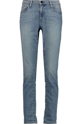 FRAME Le Original distressed mid-rise slim-leg jeans