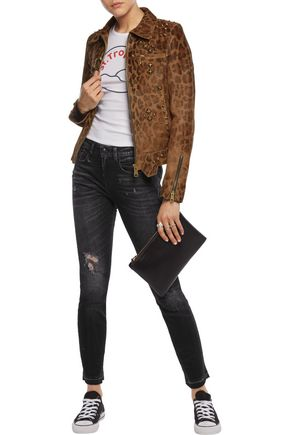 R13 Jenny mid-rise distressed skinny jeans