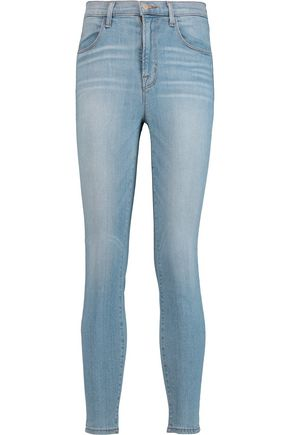 J BRAND Alana faded high-rise skinny jeans