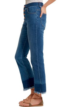SEE BY CHLOÉ Cropped mid-rise flared jeans