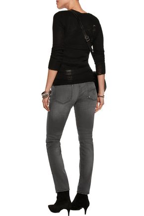 R13 Kate mid-rise distressed skinny jeans