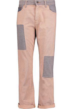 McQ Alexander McQueen Patchwork mid-rise straight-leg jeans