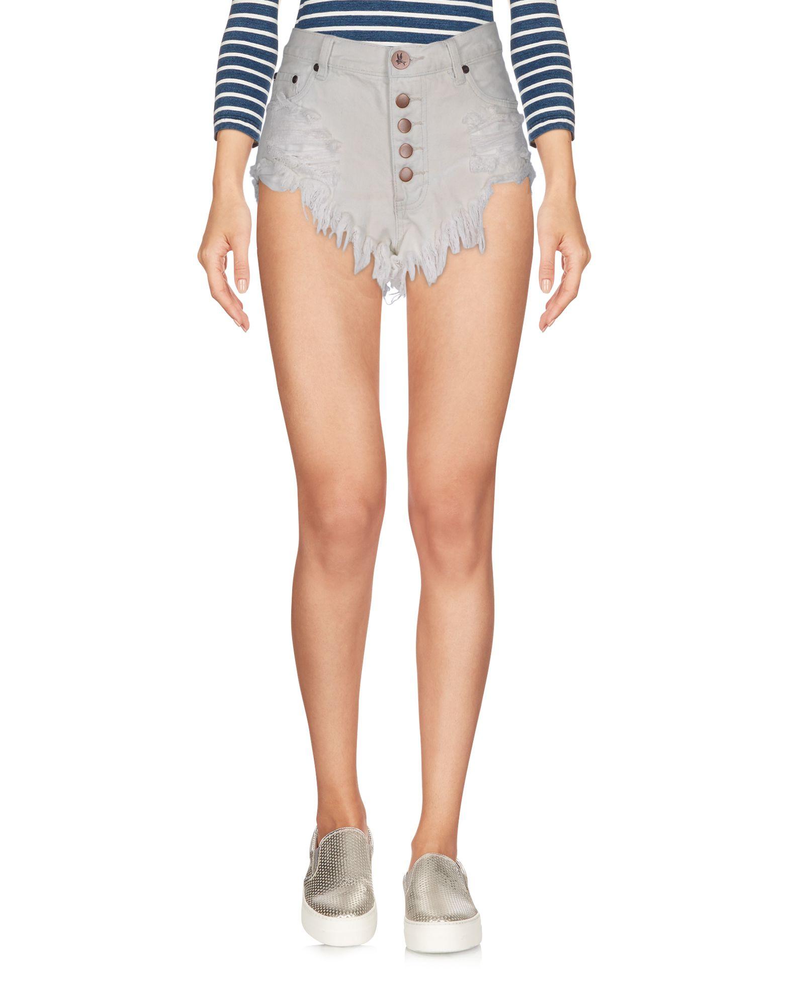 ONE x ONETEASPOON Джинсовые шорты superfine джинсовые шорты
