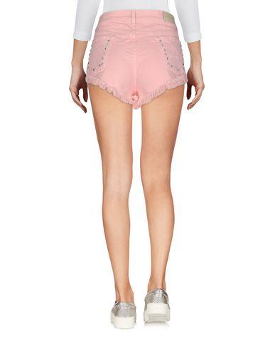 Фото 2 - Джинсовые шорты от GAëLLE Paris розового цвета