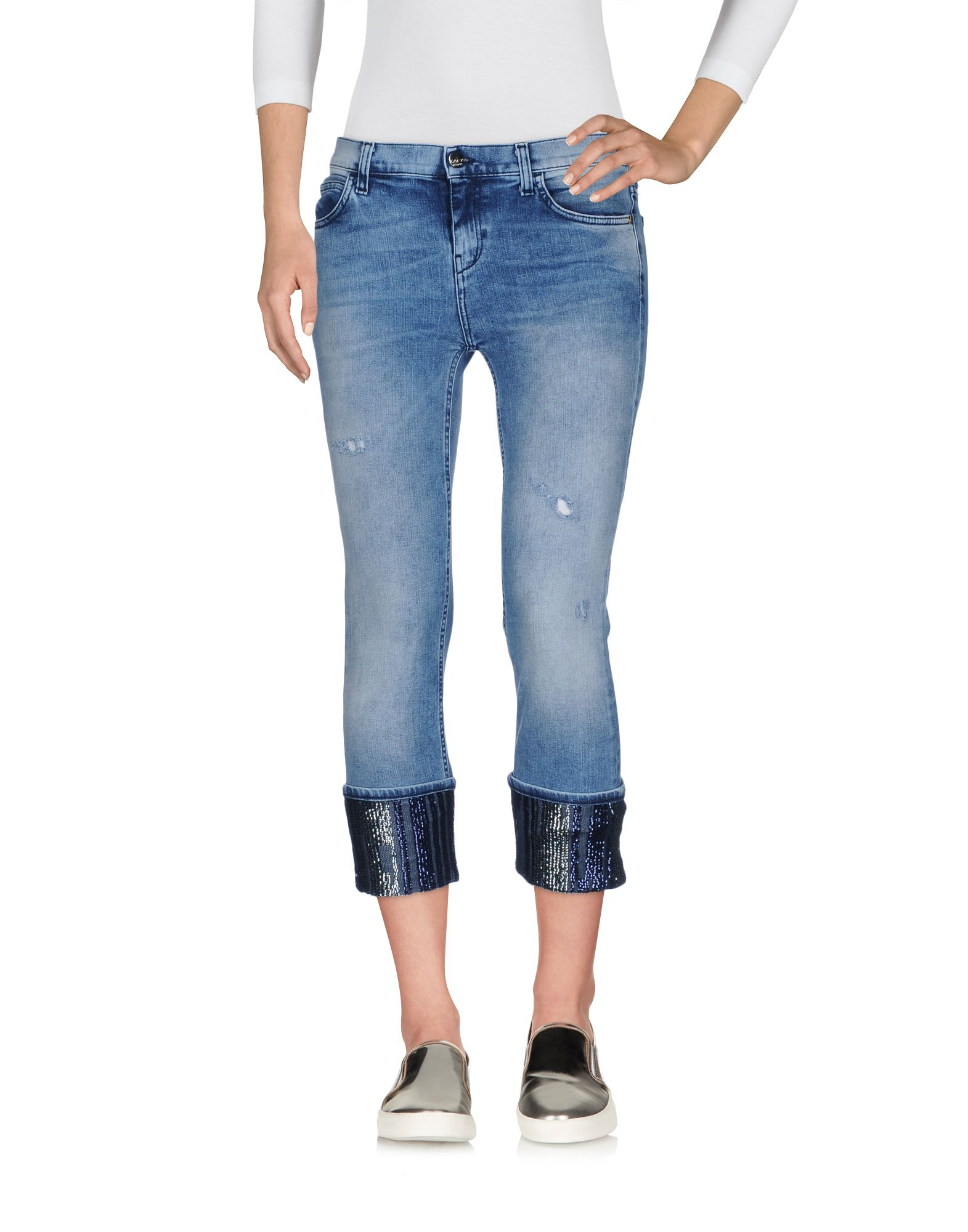 KAOS JEANS Джинсовые брюки-капри цена 2017