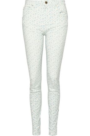 BAND OF OUTSIDERS Printed high-rise skinny jeans