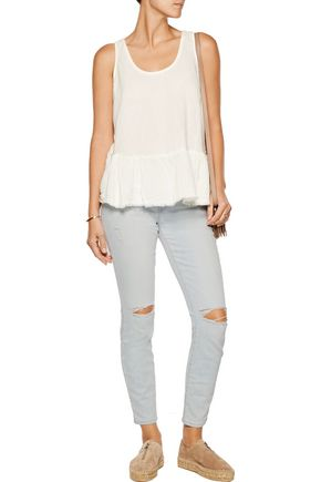 CURRENT/ELLIOTT The Stiletto faded mid-rise skinny jeans