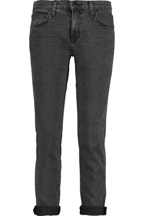 CURRENT/ELLIOTT The Fling mid-rise slim-leg jeans