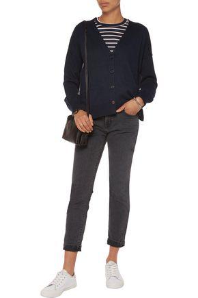CURRENT/ELLIOTT The Fling mid-rise slim-leg jeans
