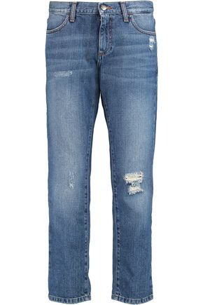 IRIS & INK Distressed boyfriend jeans