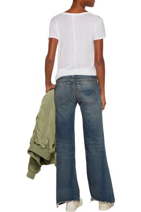 R13 The Jane mid-rise distressed flared jeans