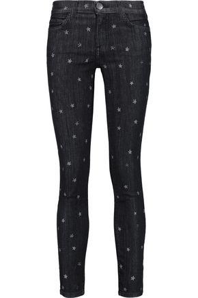 CURRENT/ELLIOTT The Stilleto printed mid-rise skinny jeans