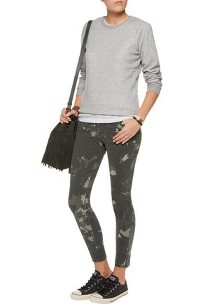 CURRENT/ELLIOTT The Stiletto mid-rise printed skinny jeans