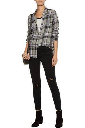 CURRENT/ELLIOTT The Stiletto mid-rise distressed skinny jeans