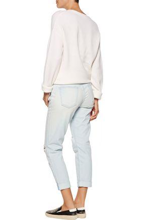 CURRENT/ELLIOTT The Fling cropped distressed boyfriend jeans