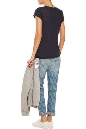 CURRENT/ELLIOTT The Fling patchwork low-rise boyfriend jeans