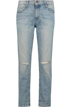 CURRENT/ELLIOTT The Fling distressed boyfriend jeans