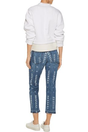 CURRENT/ELLIOTT The Cropped Straight mid-rise straight-leg jeans