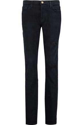 CURRENT/ELLIOTT The Traveler distressed mid-rise boyfriend jeans