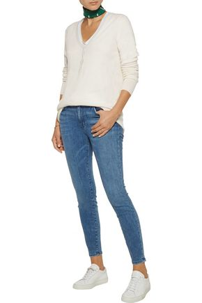 CURRENT/ELLIOTT The Highwaist Stiletto mid-rise skinny jeans