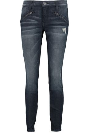 CURRENT/ELLIOTT The Silverlake Zip low-rise skinny jeans