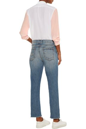 CURRENT/ELLIOTT The Unrolled Fling mid-rise boyfriend jeans