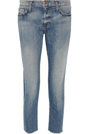 CURRENT/ELLIOTT The Unrolled Fling mid-rise boyfriend jeans