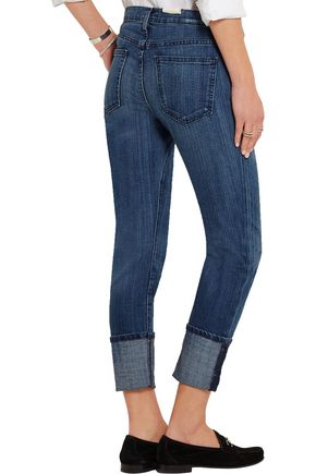 CURRENT/ELLIOTT The Cuffed mid-rise skinny jeans