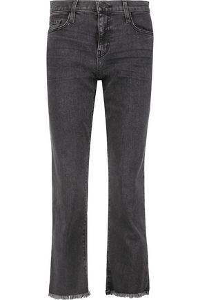 CURRENT/ELLIOTT The Kick mid-rise cropped flared jeans
