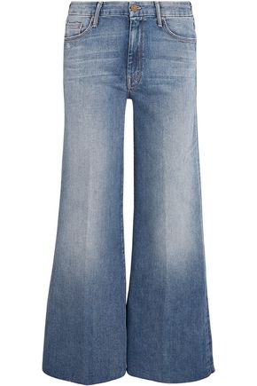 MOTHER The Roller mid-rise cropped flared jeans