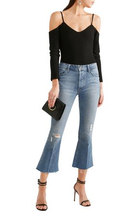 MOTHER The Nomad mid-rise cropped flared jeans