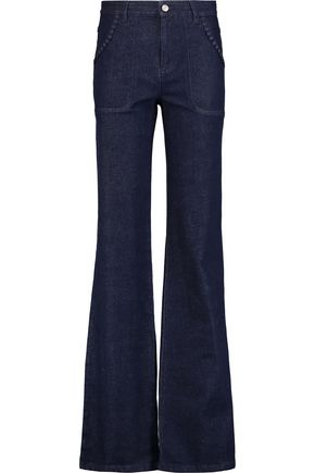 SEE BY CHLOÉ Embroidered high-rise flared jeans