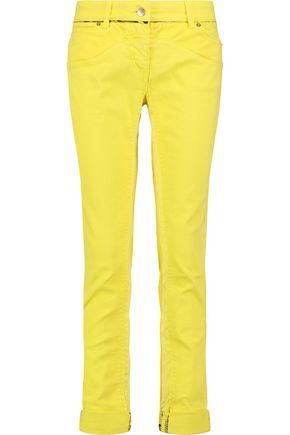 ROBERTO CAVALLI Mid-rise paneled skinny jeans