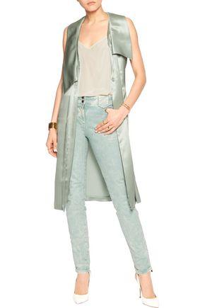 ROBERTO CAVALLI Mid-rise acid-wash skinny jeans