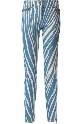 ROBERTO CAVALLI Mid-rise printed skinny jeans