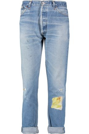RE/DONE High-rise faded straight-leg jeans