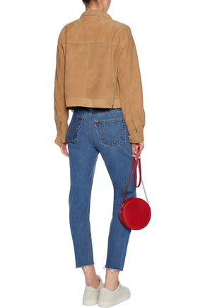 RE/DONE Paneled high-rise slim-leg jeans