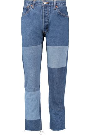 RE/DONE Paneled high-rise slim-leg jeans