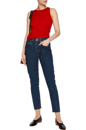 RE/DONE Originals cropped high-rise skinny jeans