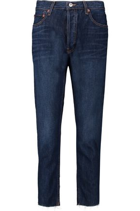 RE/DONE High-rise cropped straight-leg jeans