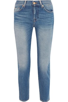 7 FOR ALL MANKIND Josie mid-rise cropped straight-leg jeans
