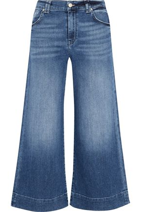 7 FOR ALL MANKIND High-rise cropped wide-leg jeans