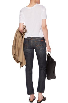 7 FOR ALL MANKIND Roxanne low-rise slim-leg pants