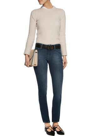 7 FOR ALL MANKIND Kimmie mid-rise faded straight-leg jeans