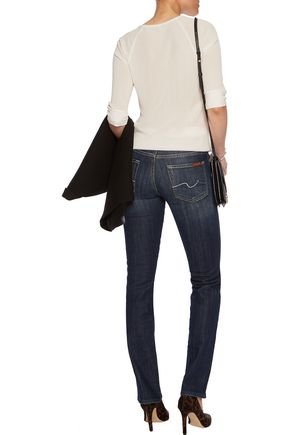 7 FOR ALL MANKIND Mid-rise slim-leg jeans