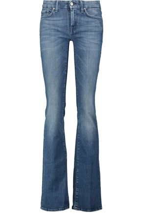 7 FOR ALL MANKIND Mid-rise faded flared jeans