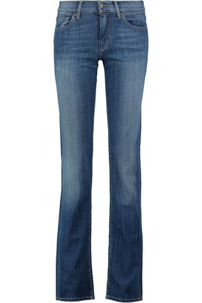 7 FOR ALL MANKIND Low-rise straight-leg jeans