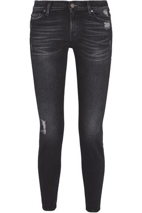 7 FOR ALL MANKIND Mid-rise distressed skinny jeans