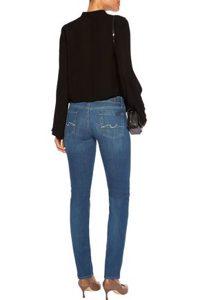 7 FOR ALL MANKIND Roxanne low-rise skinny jeans